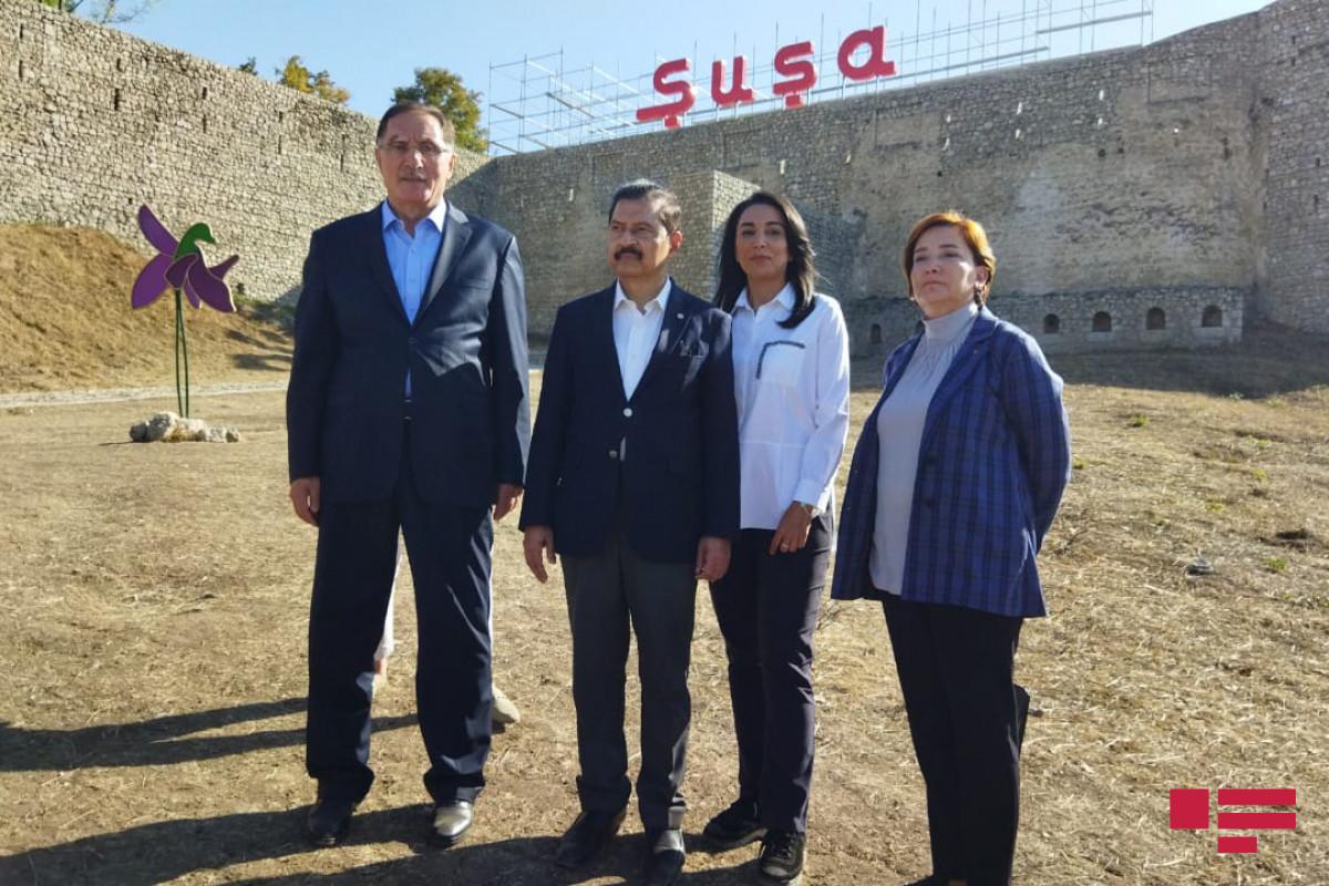 İƏT Ombudsmanlar Assosiasiyasının nümayəndə heyəti Şuşa qalasında olub