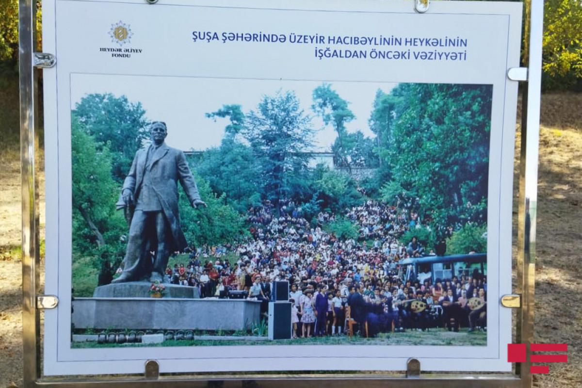 Delegation of OIC Association of Ombudsmen views monument of Uzeyir Hajibayli in Shusha