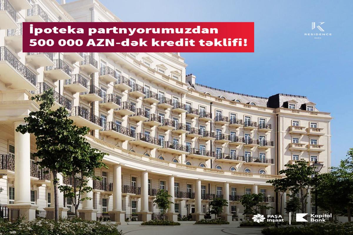 """""""Kapital Bank"""" sərfəli ipoteka krediti təklif edir"""