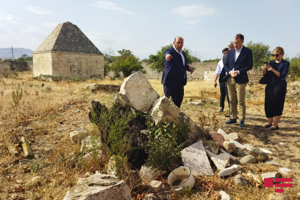Special representative of EU got acquainted with vandalism acts of Armenians in Imarat complex