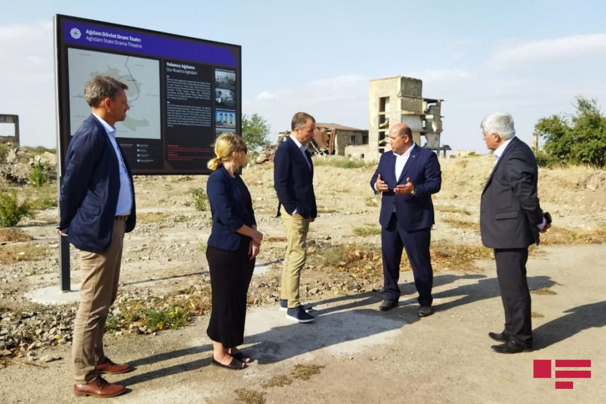 EU special representative viewed remains of the Agdam Drama Theater