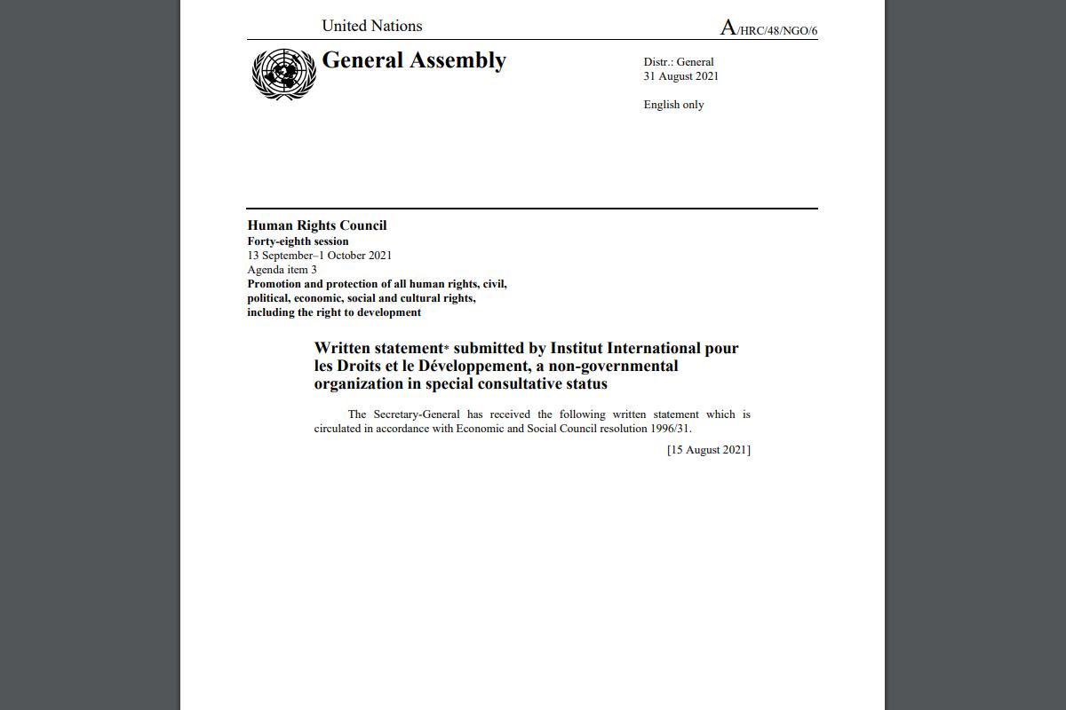 International organizations' documents on Azerbaijan published on UN website
