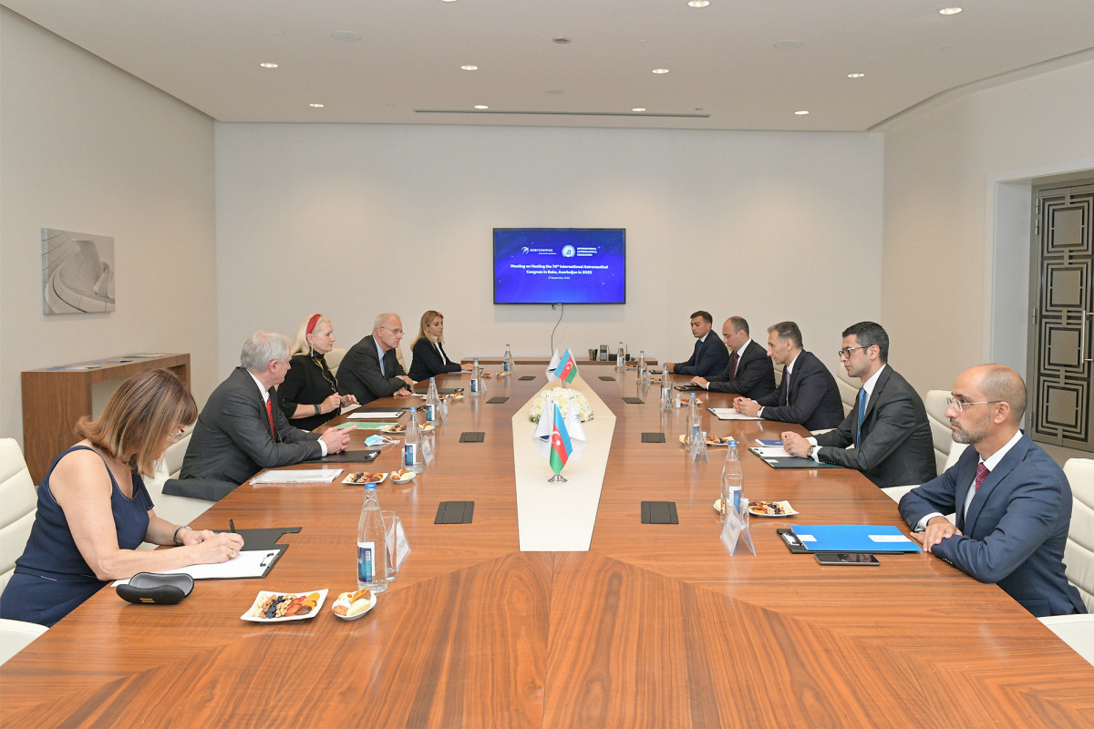 Meeting was held with a delegation of the International Astronautical Federation