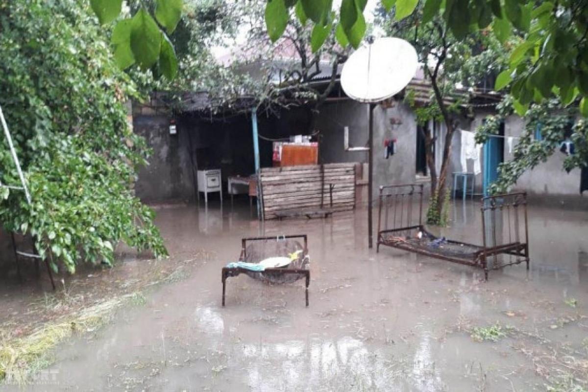 Güclü yağış Tovuzda fəsadlar törədib