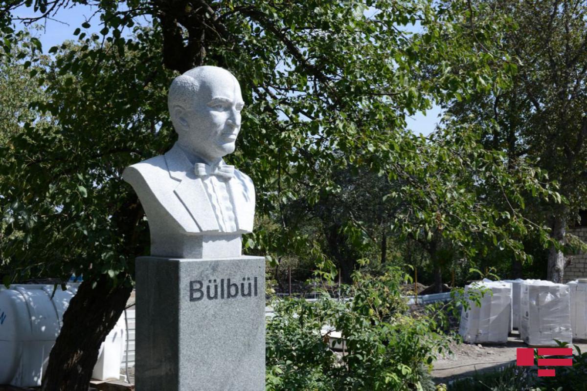 """Polad Bülbüloğlu: """"Yuxumuza gəlməzdi ki, 1 ildən sonra biz Şuşada Bülbülün ev muzeyini bərpa edəcəyik"""" - FOTO  - VİDEO"""