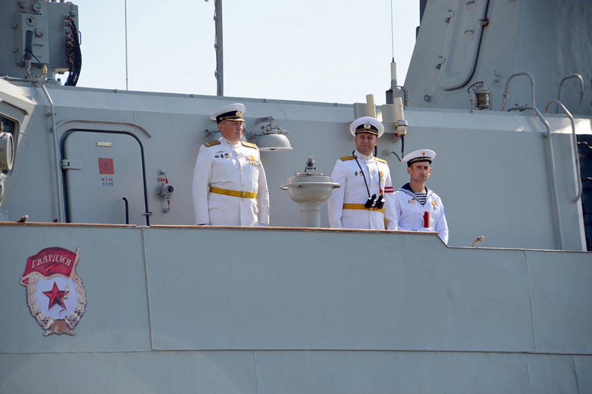 Two warships of the Russian Caspian Flotilla arrived in Baku-PHOTO