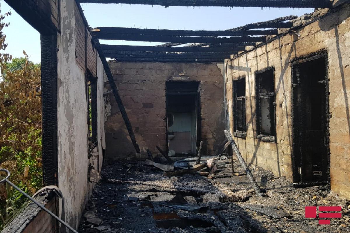 В Балакяне произошел пожар в доме, пострадал один человек