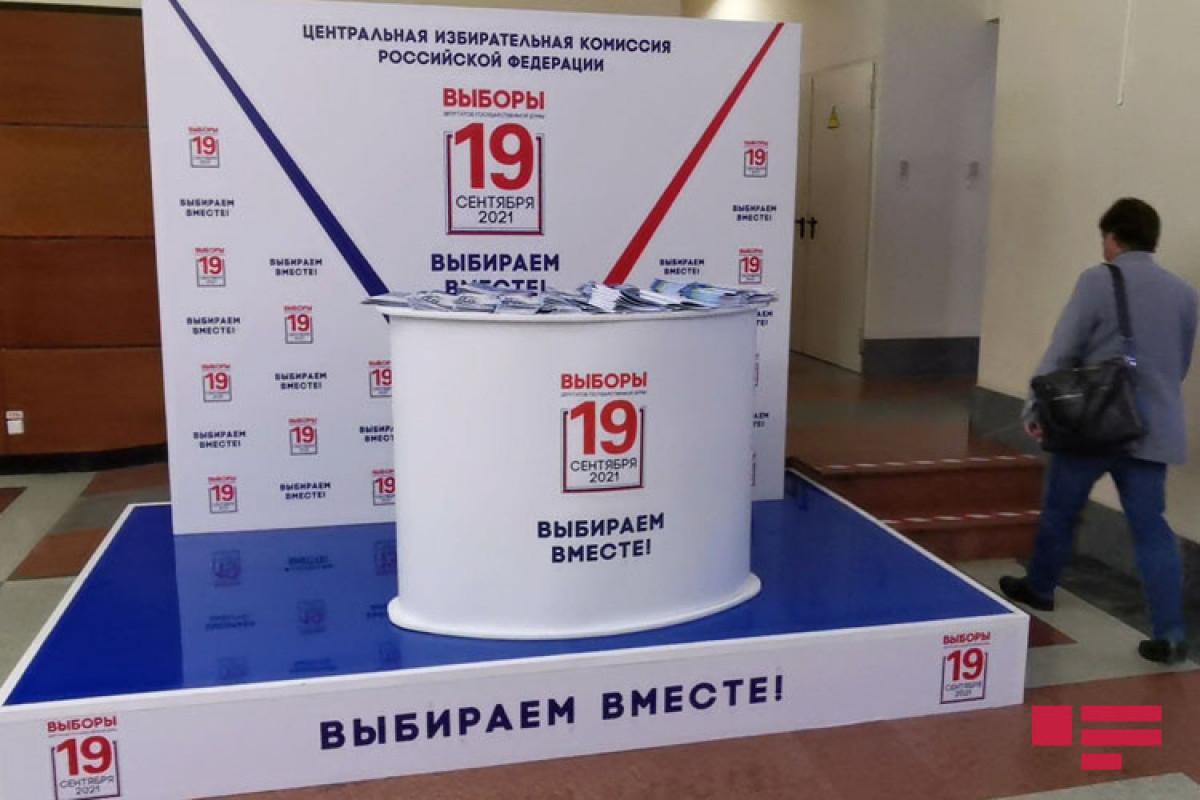 VIII çağırış Rusiya Dövlət Dumasına seçkilərdə səsvermə başa çatıb - FOTO