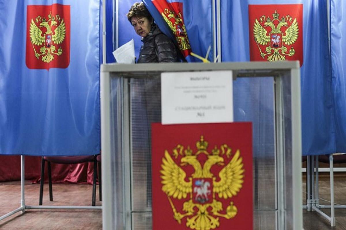"""Rusiyanın hakim Vahid Rusiya Partiyası seçkilərdə qələbəsini elan edib - <span class=""""red_color"""">VİDEO"""