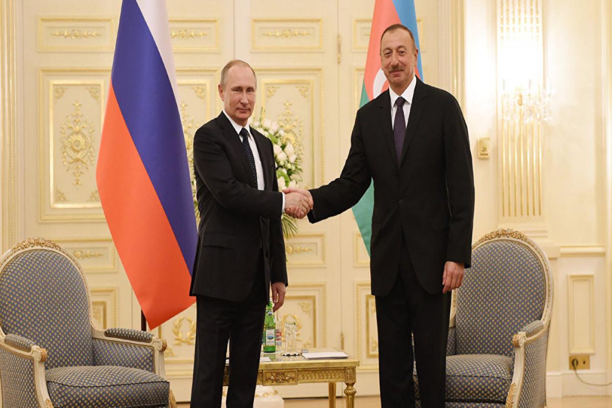 """Azərbaycan Prezidenti Vladimir Putinə təbrik məktubu ünvanlayıb - <span class=""""red_color"""">VİDEO"""