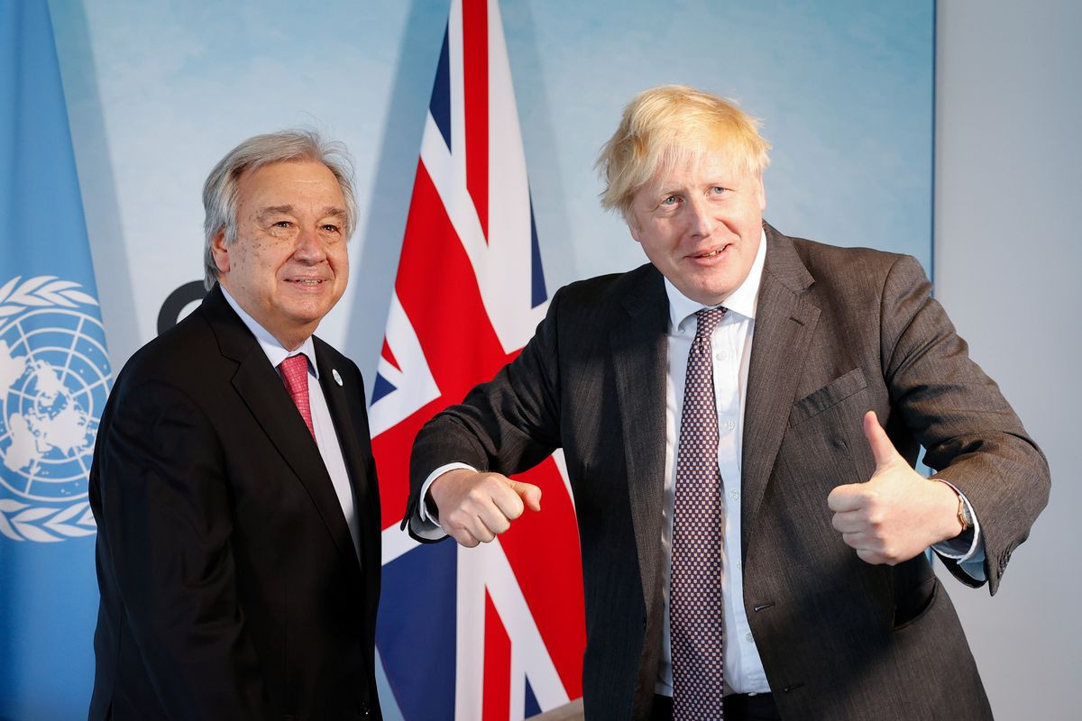 U.N. chief, UK PM increase pressure on leaders for climate change funds