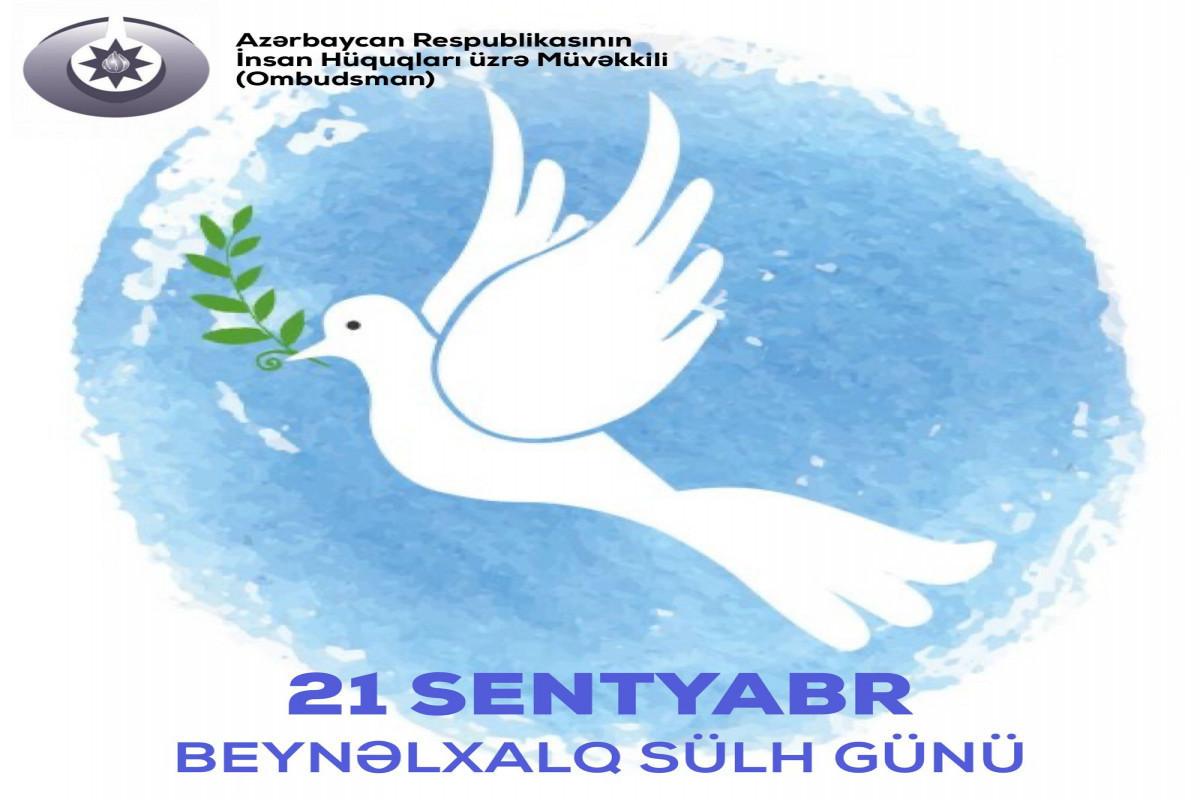 Azerbaijani Ombudsman addressed an appeal to international organizations on International Day of Peace