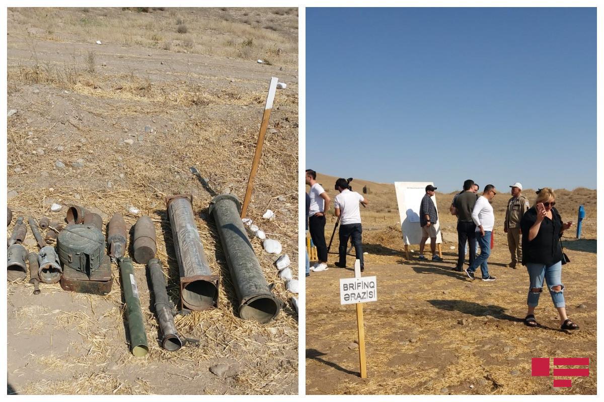 Mine clearance operations in Fuzuli