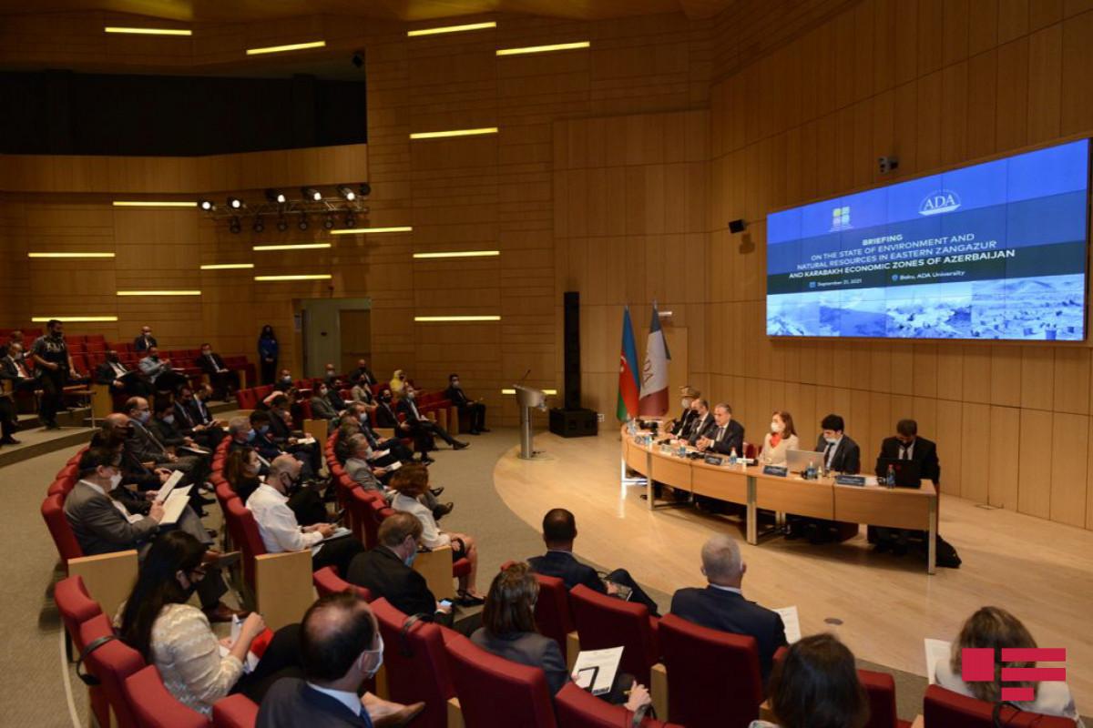 Состоялось мероприятие по состоянию окружающей среды и природных ресурсов в Восточно-Зангезурском и Карабахском экономических районах