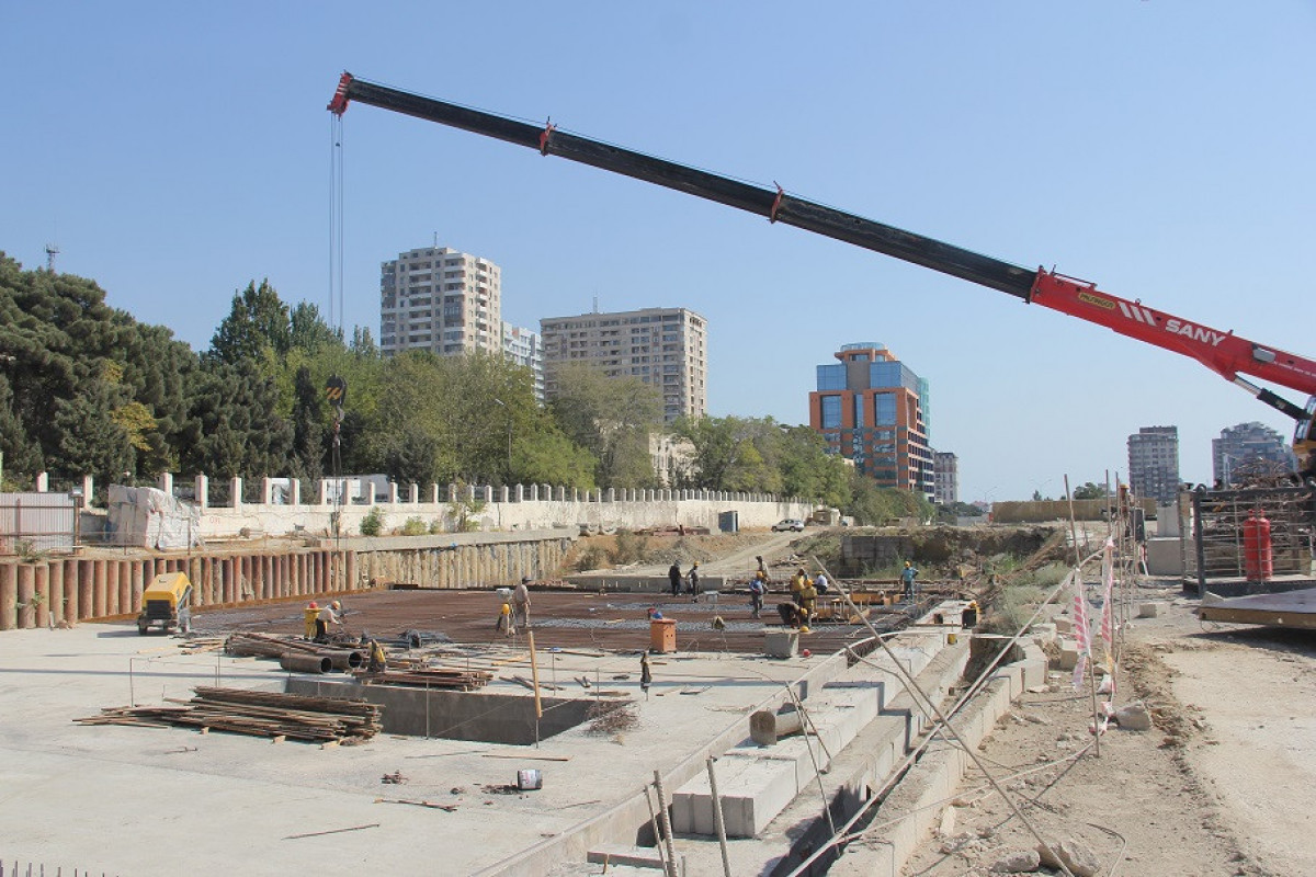 """Construction of new station of Baku Metro started -<span class=""""red_color"""">PHOTO"""