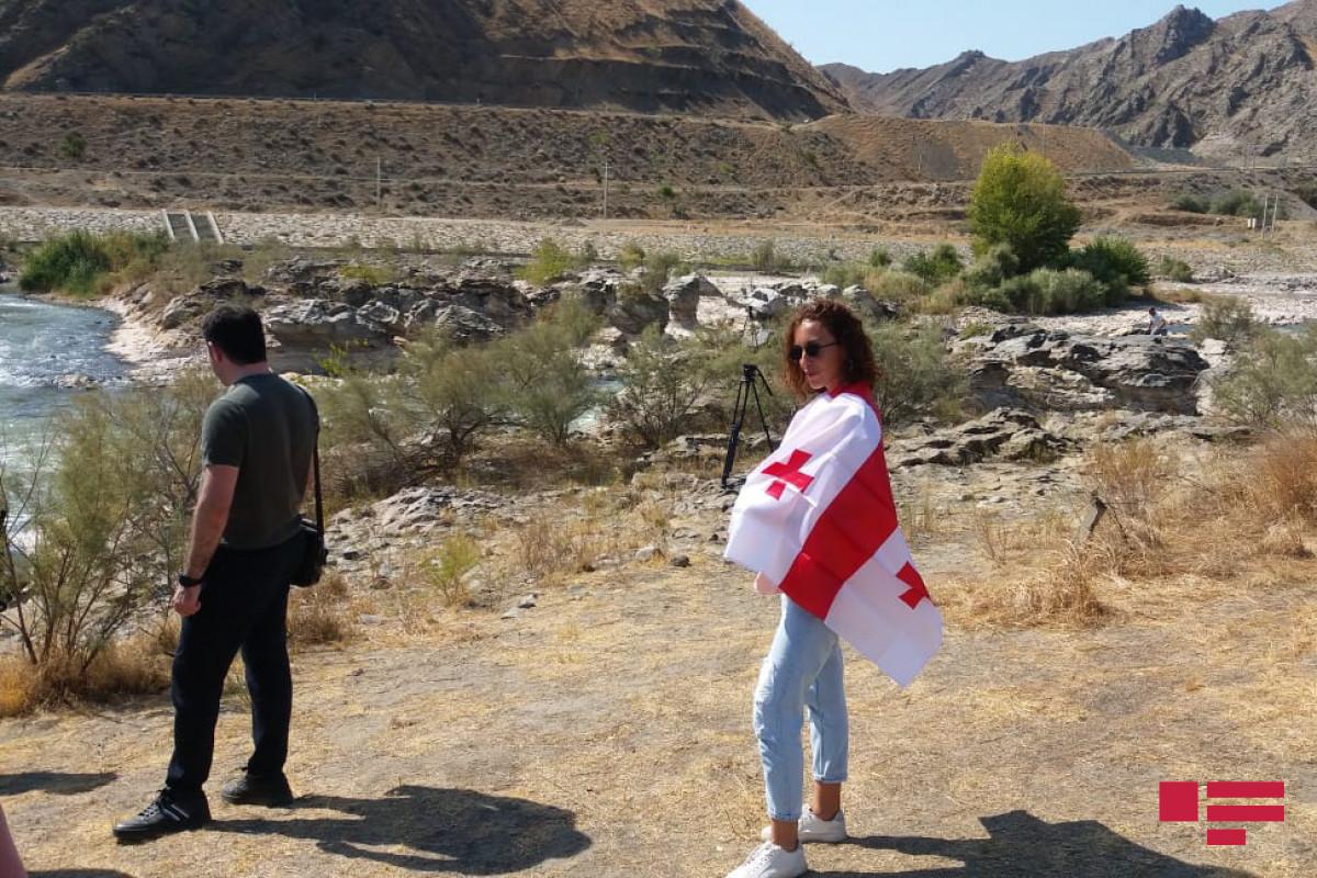 Georgian journalists in Khudafarin bridges