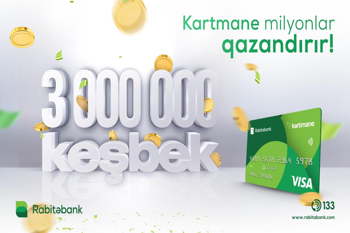 """""""Kartmane"""" sahibləri bu il 3 mln. manatdan çox keşbek qazanıb"""
