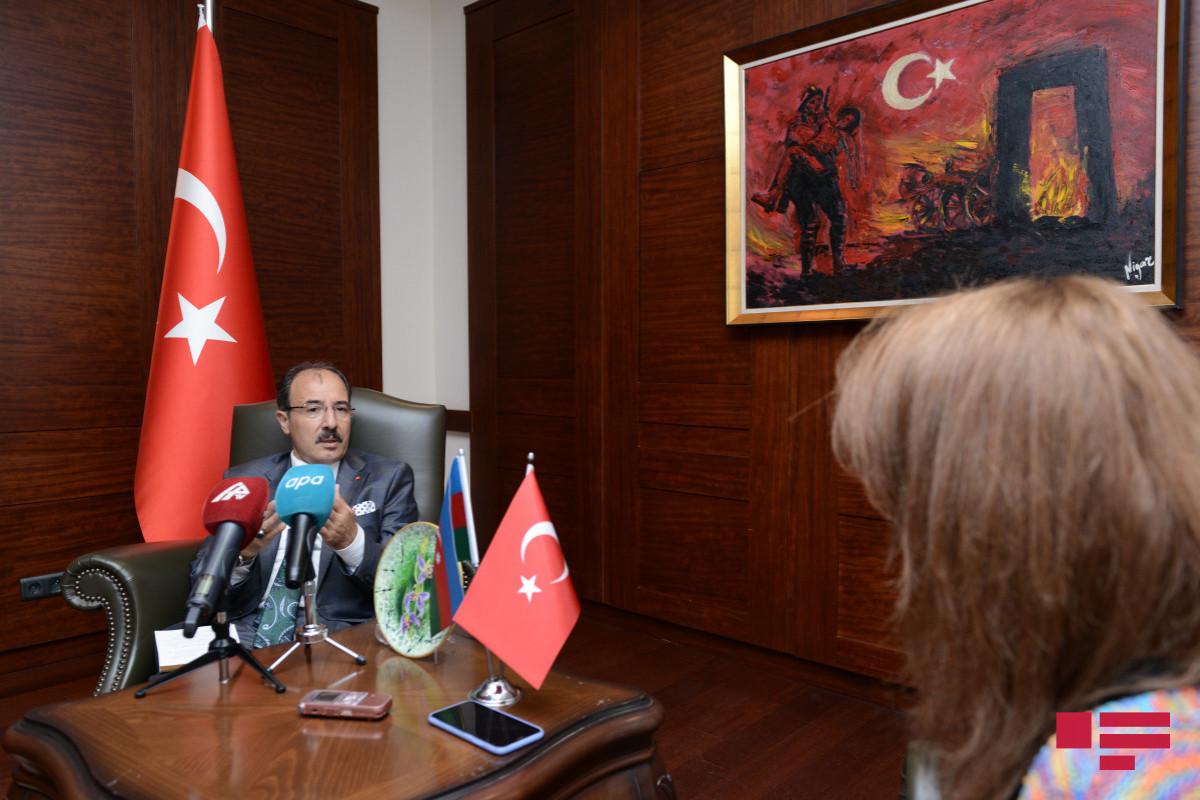 Интервью АПА чрезвычайного и полномочного посла Турции в АзербайджанеДжахита Багчы