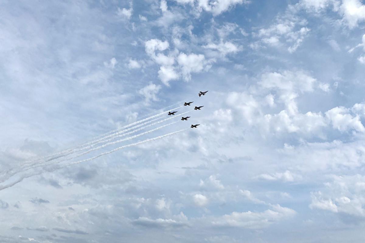 Минобороны: Военные летчики Азербайджана совершили свой первый полет на фестивале «Технофест-2021»