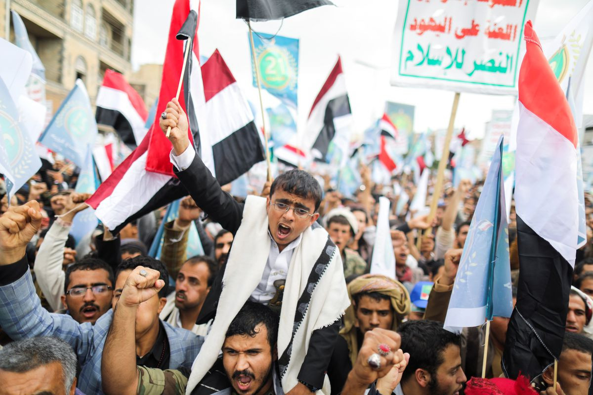 Houthis rally in north Yemen as their fighters push south