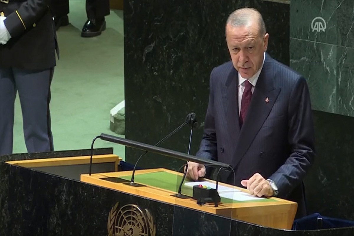 """Erdogan addressed to the world from the UN:    """"Azerbaijan used its right to selfe-defense to end occupation of its lands"""""""