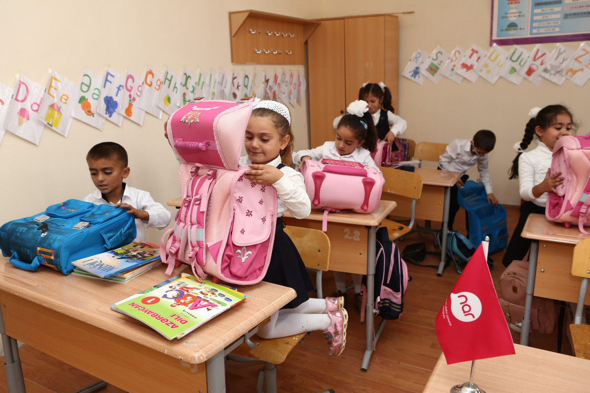 Nar provides school supplies for first graders of schools in Tartar and Fizuli -VIDEO