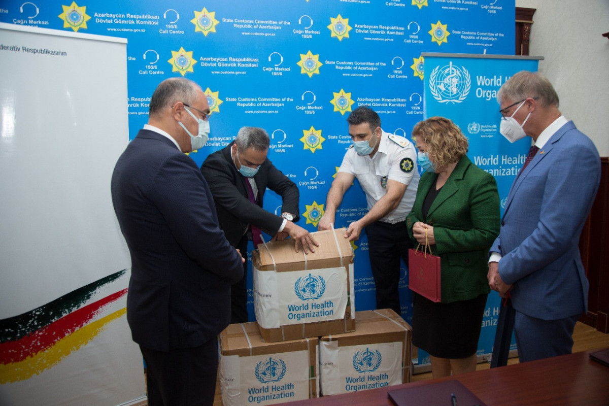 300 thousand medical masks donated by German government handed over to Azerbaijan's State Customs Committee