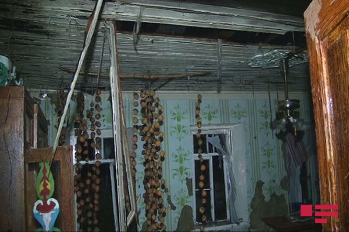 Zaqatalada Vətən Müharibəsi qazisinin evində yanğın olub - FOTO  - VİDEO