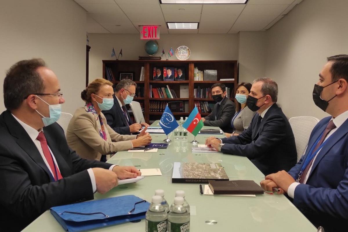 Джейхун Байрамов встретился с генеральным секретарем Совета Европы
