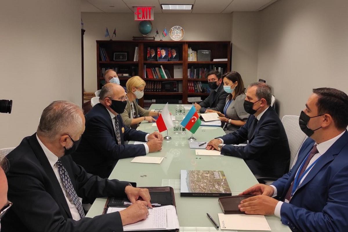 Состоялась встреча глав МИД Азербайджана и Польши