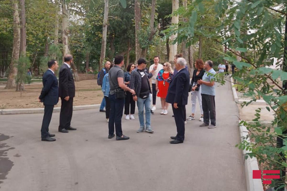 Журналисты и блогеры из Грузии посетили Гянджу