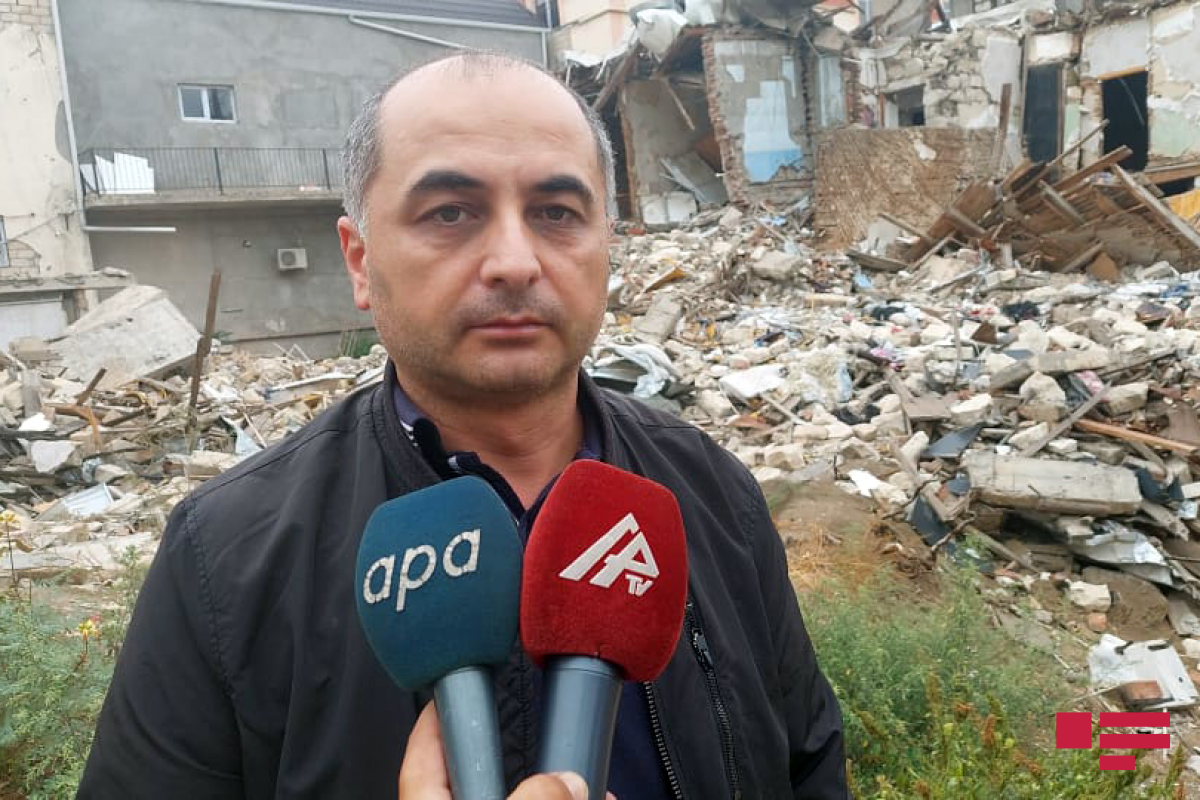 Georgian journalists and bloggers terrified from destructions in Ganja as a result of Armenian fire