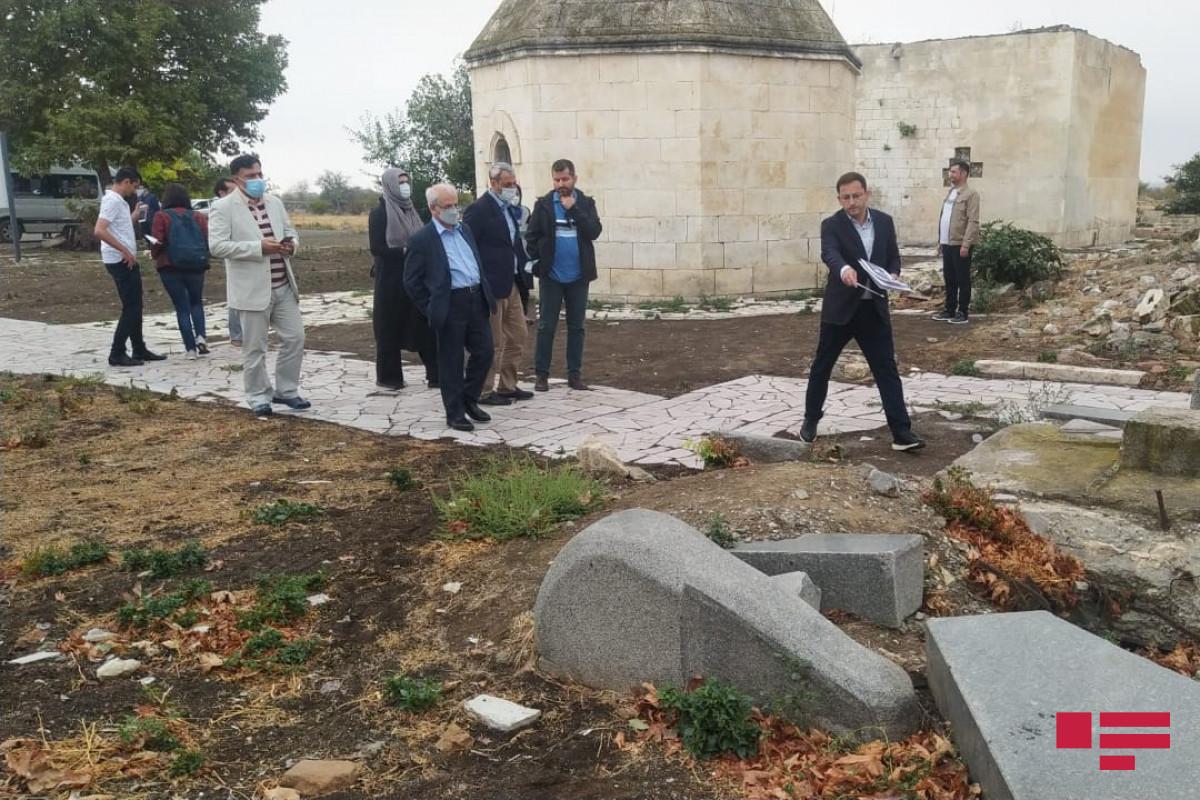 Iran's deputy FM visits Aghdam, views Natavan's grave destroyed by Armenians