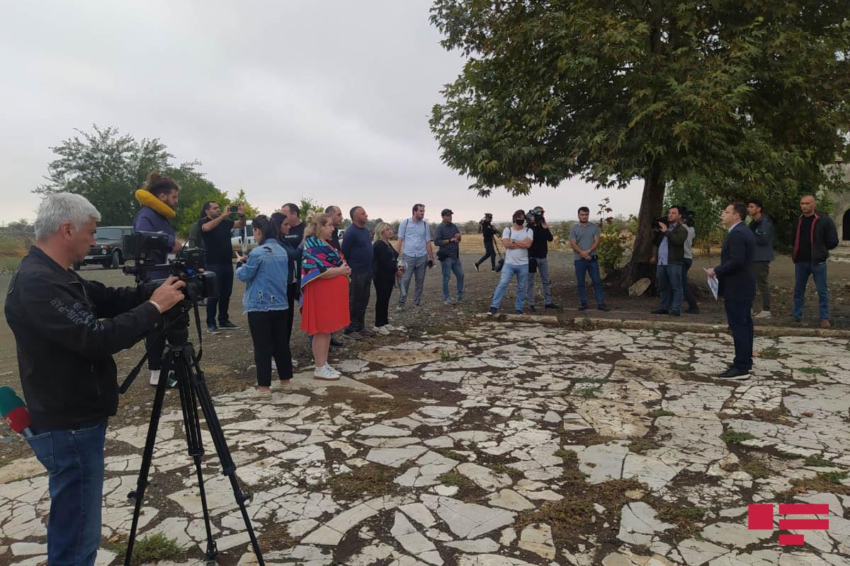 Gürcüstanlı jurnalist və blogerlər Ağdamda