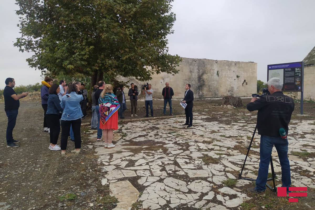 Georgian journalists and bloggers visit Agdam