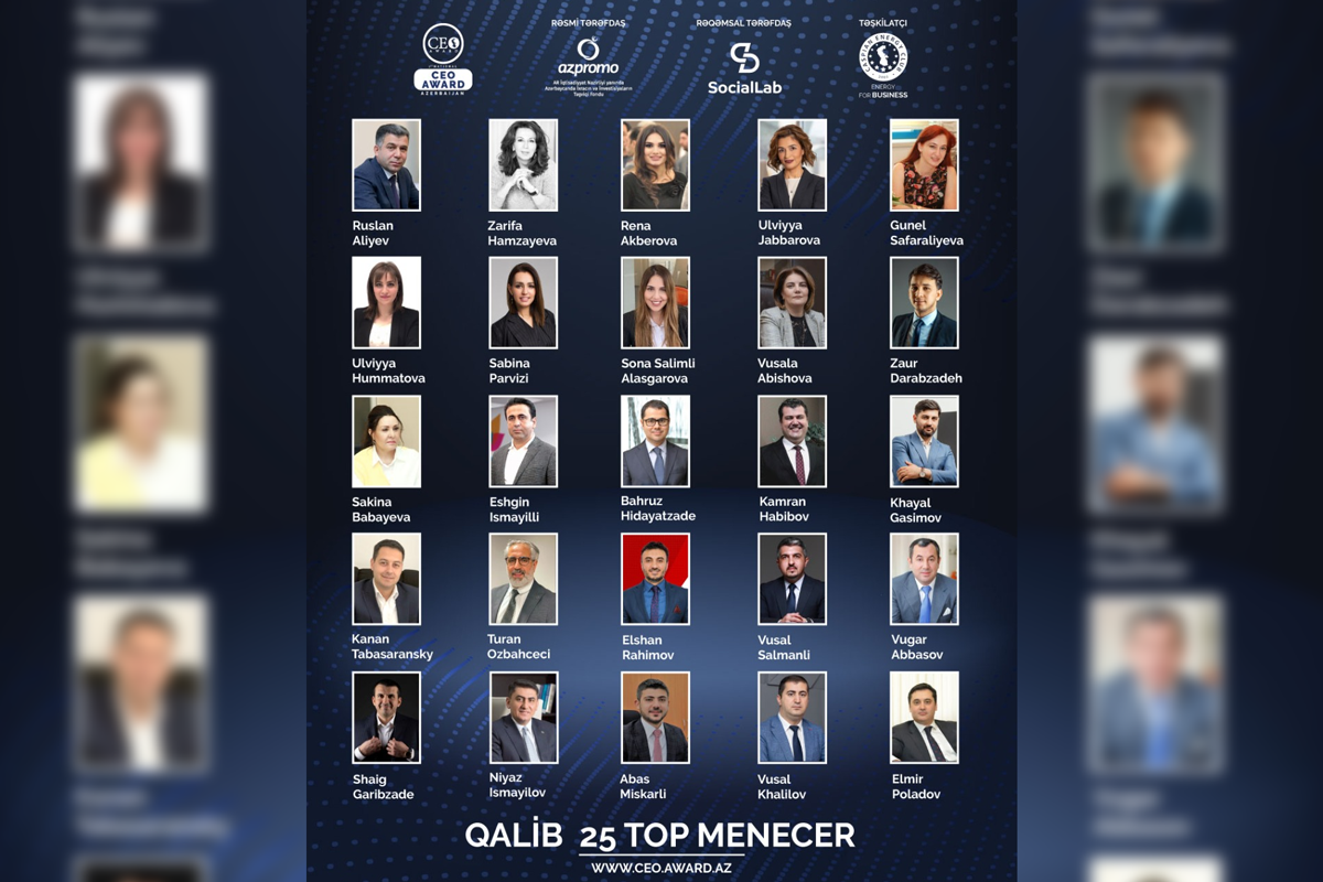 25 most recognizable top-managers of Azerbaijan announced