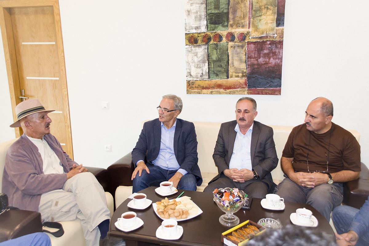 Reza Deqati Azərbaycan Mətbuat Şurasında olub