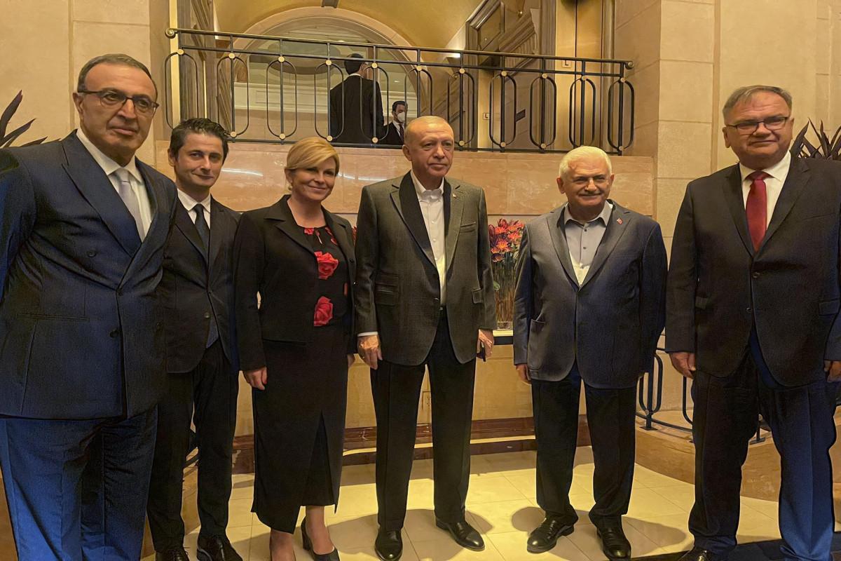 "Members ofNizami Ganjavi International Center met with Erdogan-<span class=""red_color"">PHOTO"