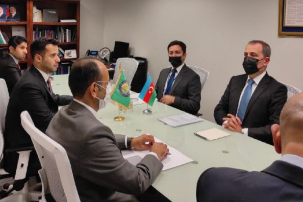 Azerbaijani FM meets with the Secretary General of the Gulf Cooperation Council