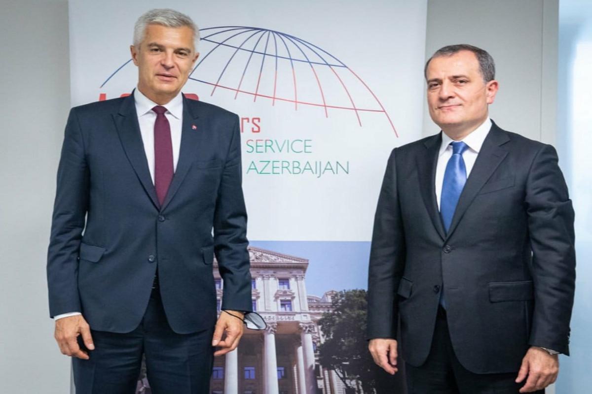 Джейхун Байрамов встретился с министром иностранных дел Словакии