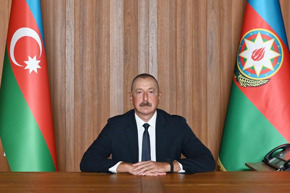 Ильхам Алиев: Азербайджан одержал победу не только над оккупационными силами Армении, но и над армянским фашизмом