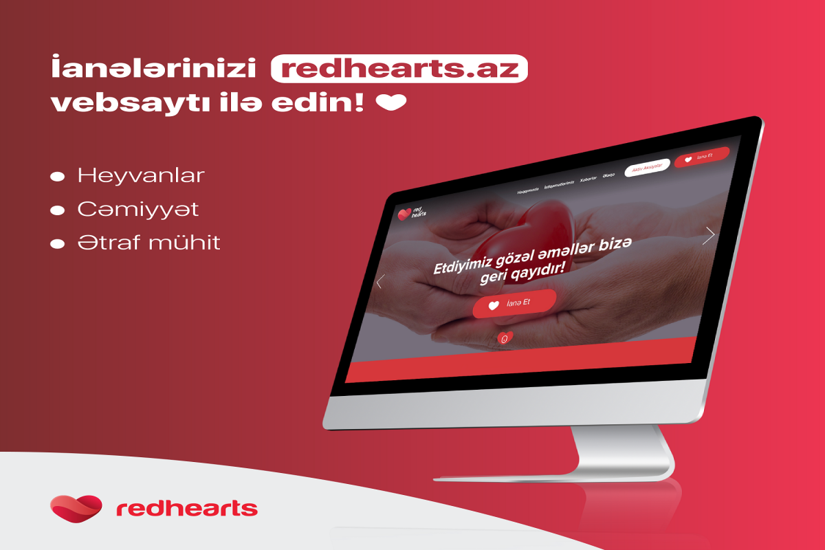 """""""Qırmızı ürəklər"""" Xeyriyyə Fondunun rəsmi internet saytı təqdim edilib"""