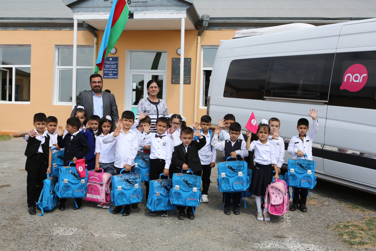 Nar provides school supplies for first graders of schools in Tartar and Fuzuli