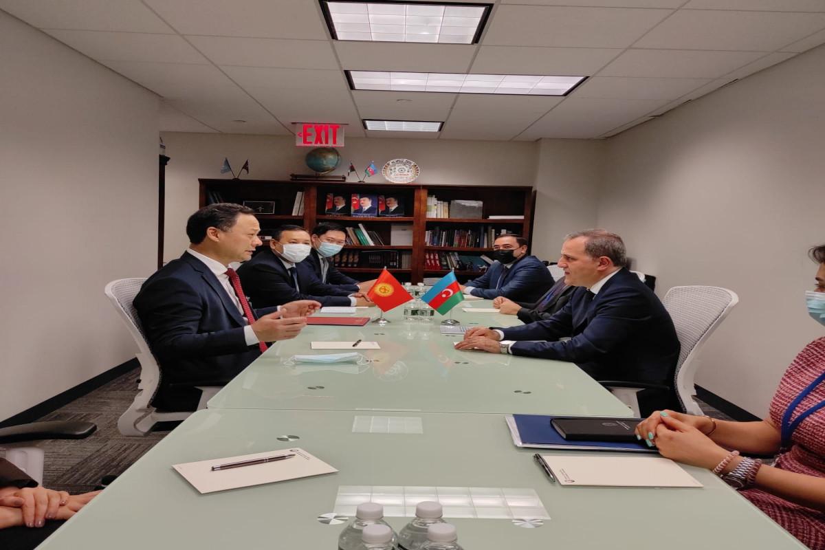 Nazir Ceyhun Bayramov qırğızıstanlı həmkarı ilə görüşüb