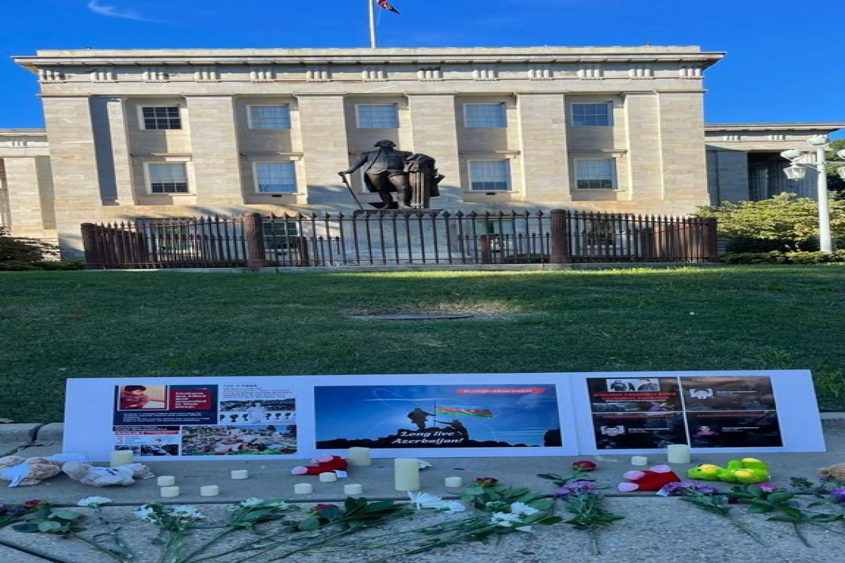 ABŞ-ın Roli şəhərinin Kapitol binası qarşısında Vətən müharibəsi şəhidləri yad edilib
