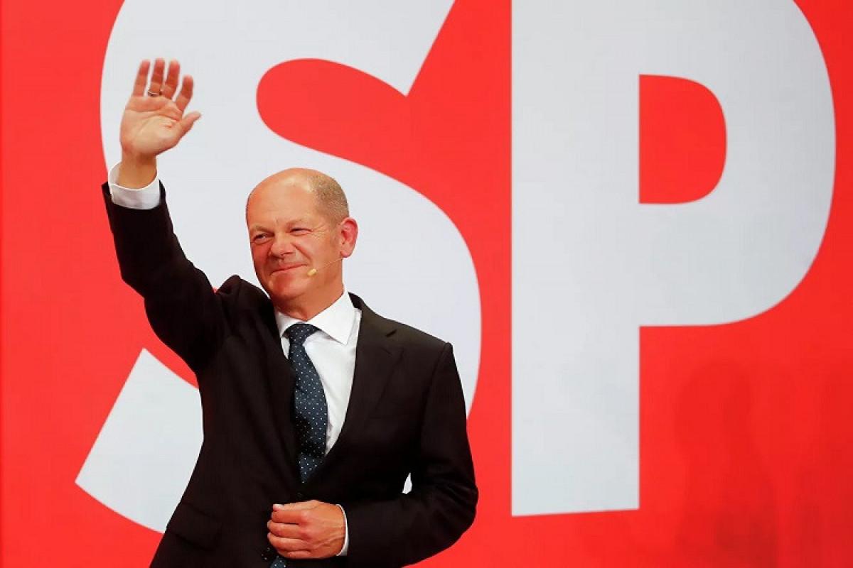 Almaniyada Sosial Demokrat Partiyası seçkilərdə qalib gəlir