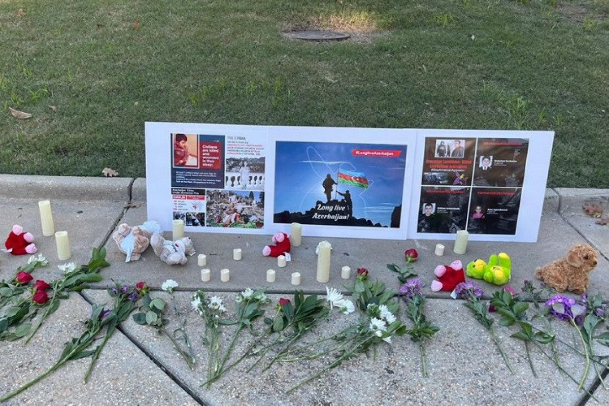 Martyrs of the Patriotic War were commemorated in front of the Capitol building in Raleigh, USA