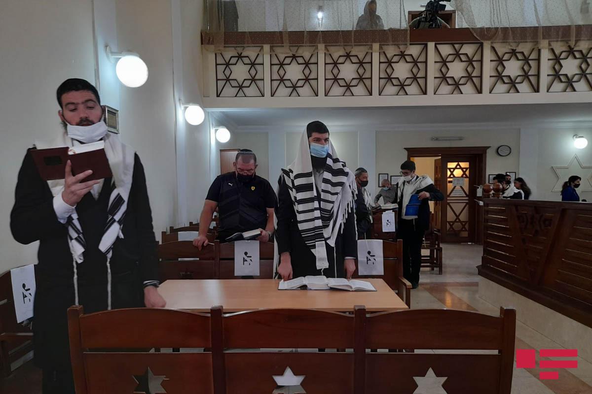 Bakı Avropa yəhudiləri sinaqoqunda mərasim