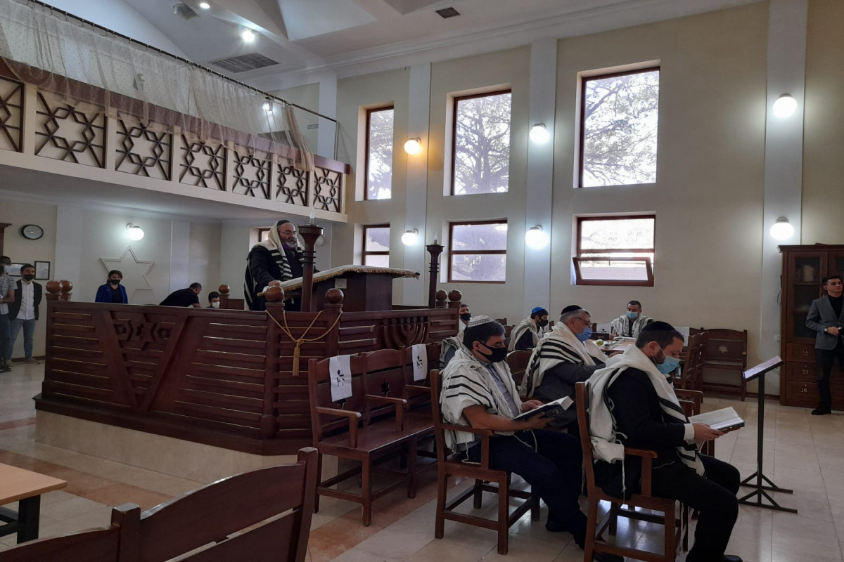Commemoration ceremony of martyrs held at European Jewish Synagogue in Baku