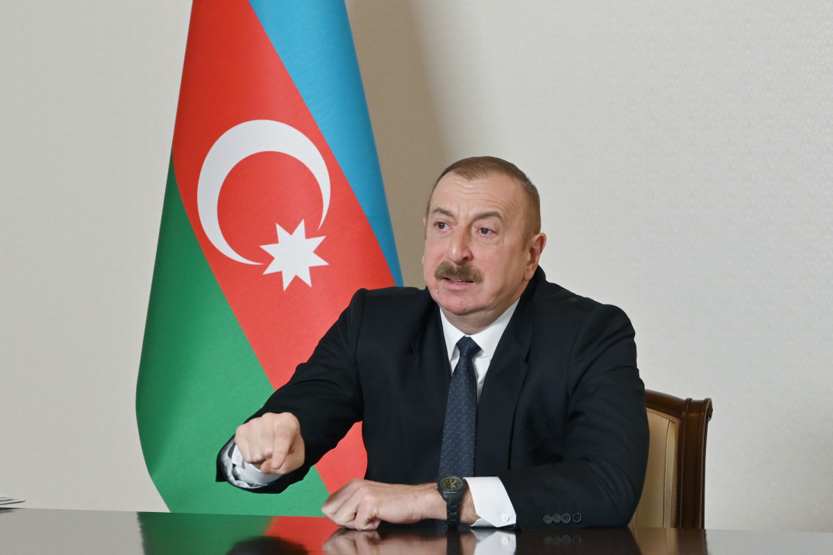 """President Ilham Aliyev: """"If someone wants to resurrect the dead entity called """"Nagorno-Karabakh"""", let them resurrect it in their own territory, we recognize it, but not in Azerbaijan"""""""